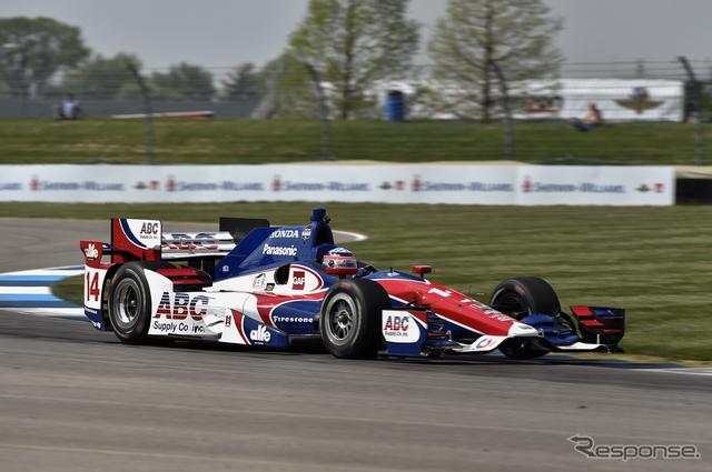 #14 佐藤琢磨は今季初のトップ10フィニッシュ(9位)。写真:Honda