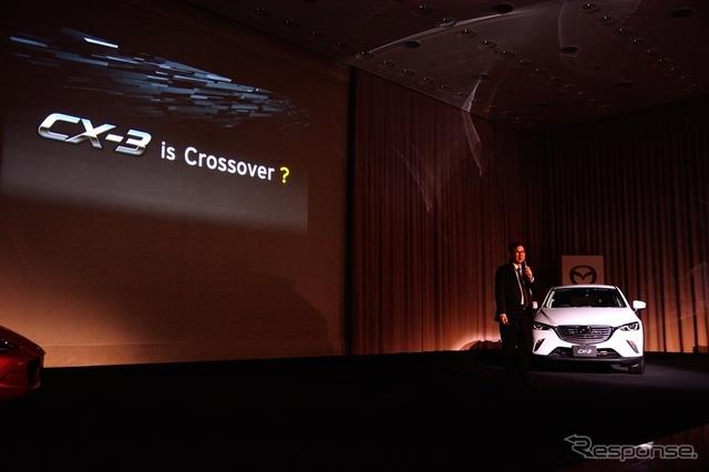 CX-3開発主査・冨山道雄氏《撮影 鈴木ケンイチ》