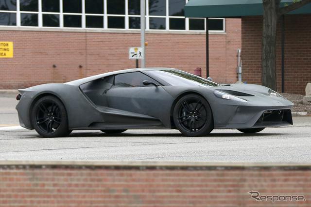 フォード GT スクープ写真《APOLLO NEWS SERVICE》