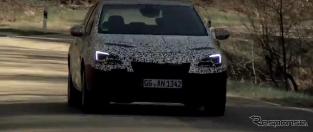 オペル アストラ 次期型の開発プロトタイプ車