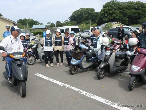 2014年5月に開催されたグッドライダーミーティング鹿児島の高齢者講習《提供 日本二輪車普及安全協会・九州二輪車協会》