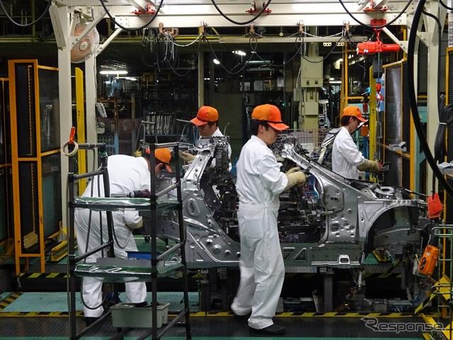八千代工業 S660 車体骨格組立工程《撮影 池原照雄》