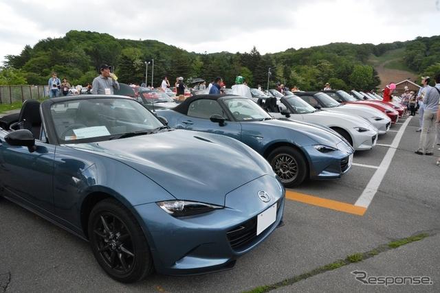発売直後のND型ロードスターも数多く参加した「ロードスター軽井沢ミーティング2015」《撮影 鈴木ケンイチ》