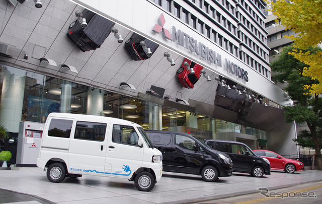 三菱自動車本社(参考画像)《撮影 宮崎壮人》