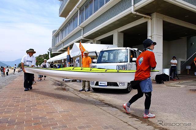 SEA TO SUMMIT 2015(5月30・31日、広島県江田島市)で先行展示されたダイハツ『ウェイク X mont-bell version SA』(仮称)《撮影 大野雅人(Gazin Airlines)》