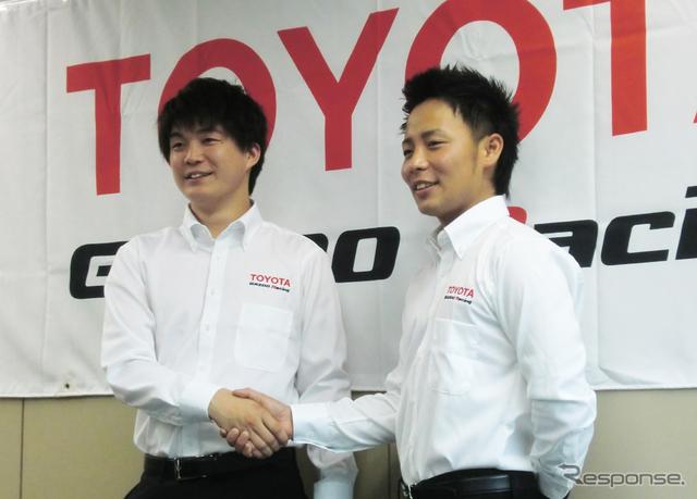 新井大輝(左)と勝田貴元。もちろん両者は「ライバル」となる。