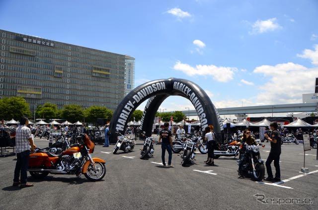 免許なしでもハーレーを体験できる、お台場でイベント… RIDE ON TOUR 東京《撮影 青木タカオ》