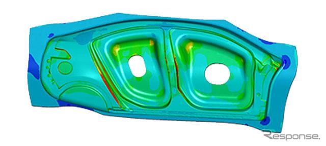 eta/DYNAFORMによる板成形シミュレーション例