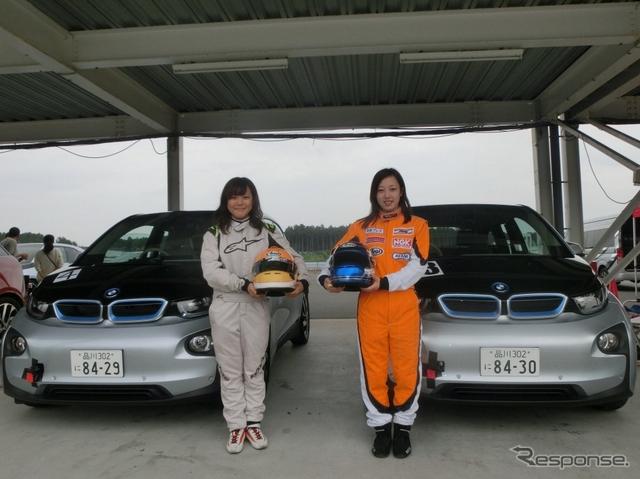 岩岡万梨恵さん(左)と北平絵奈美さん(c)Women in Motorsport