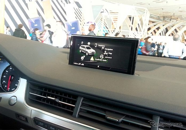 サンヨン車に搭載されたGoogleのアンドロイドオート
