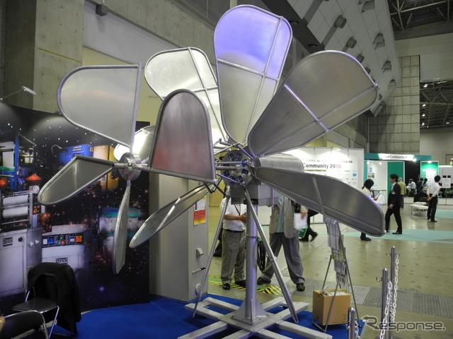 内外特殊エンジの風力発電機「セイル・ジェネレーター」《撮影 山田清志》