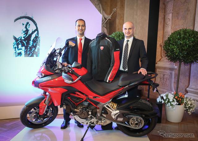 ドゥカティとダイネーゼがバイク用エアバッグシステムでポルシェ博士賞を受賞