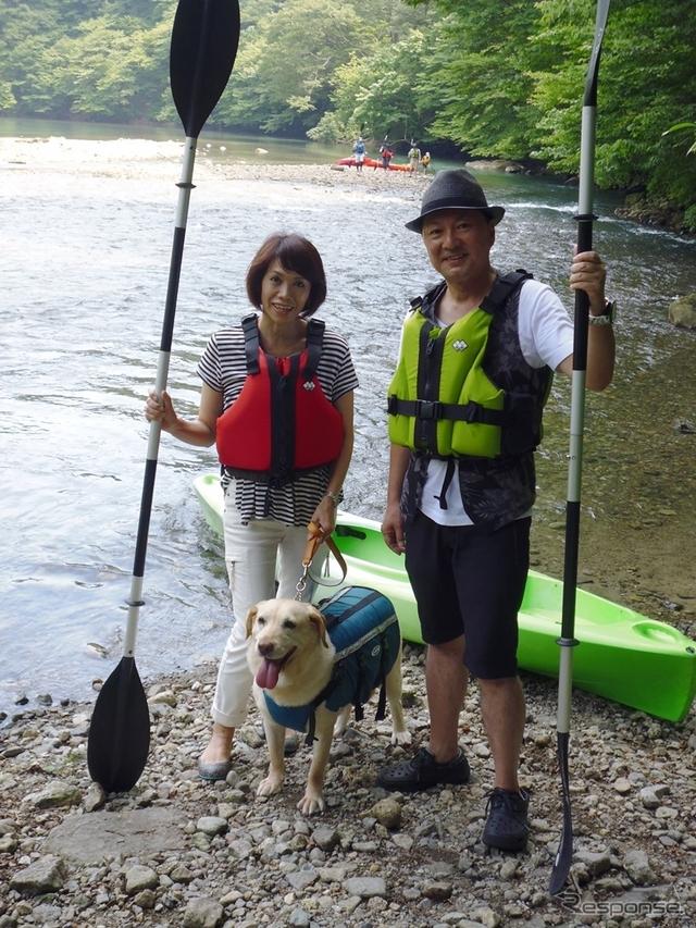 板室湖 カヌー体験ツアー フォレストヒルズ那須で申し込みできる。ホテルからクルマで約25分の距離《撮影 青山尚暉》