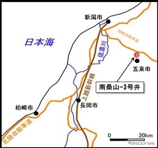 南桑山3号井位置図