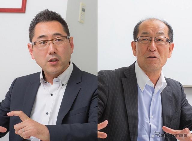 レスポンス三浦和也とトヨタ自動車 製品企画本部の田中義和主査《撮影 太宰吉崇》