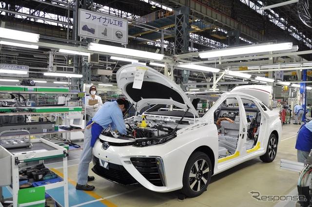 トヨタ MIRAI の生産ライン