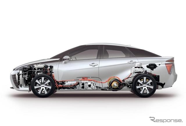 トヨタ MIRAI の燃料電池スタック