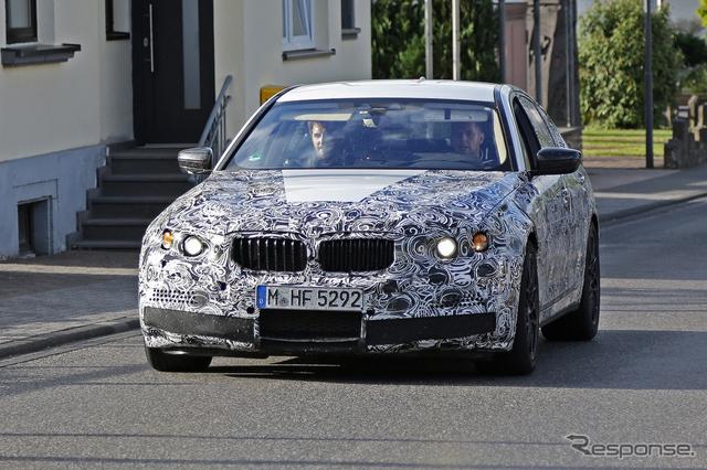 BMW M5 次期型 スクープ写真《APOLLO NEWS SERVICE》