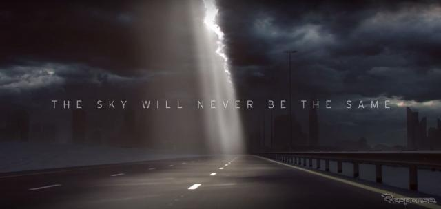 ランボルギーニの新型車の予告イメージ