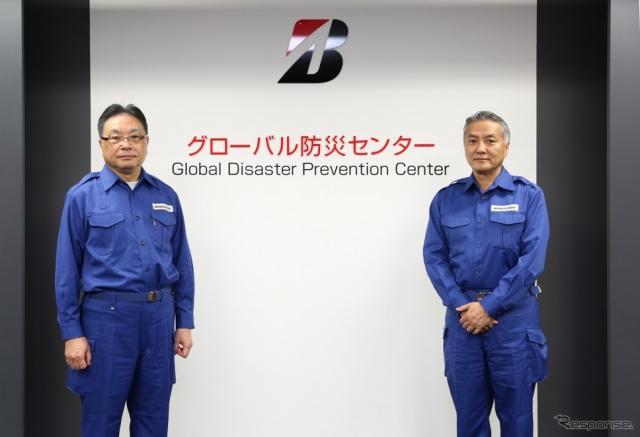開所式の様子、左から津谷正明CEO、石橋秀一 専務執行役員