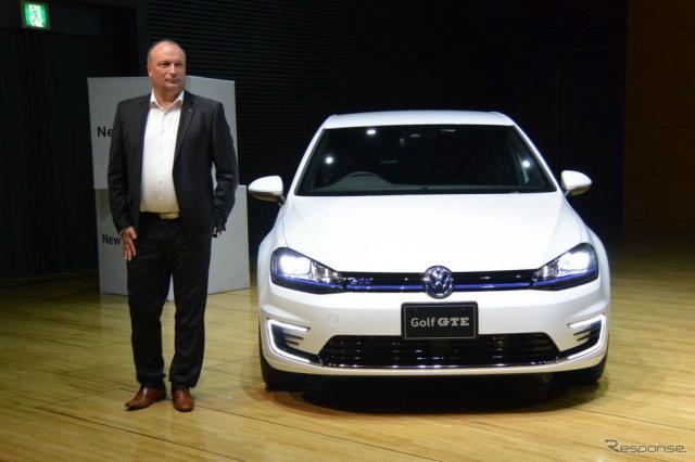 VW ゴルフGTE 発表会《撮影 小松哲也》