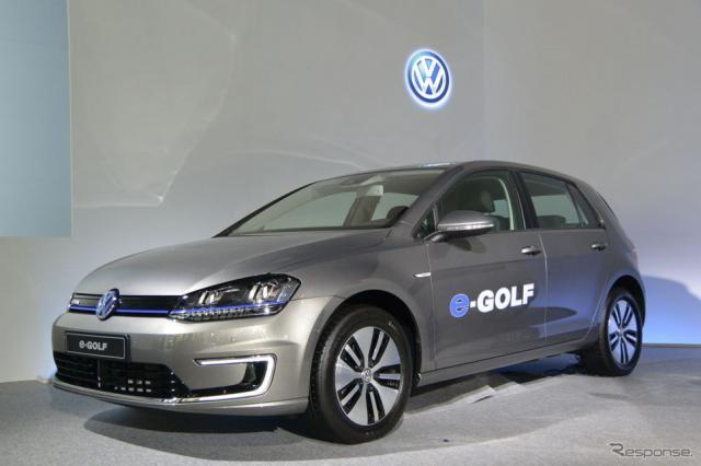 VW e-ゴルフ《撮影 小松哲也》