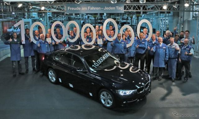 BMW 3シリーズセダンの累計生産が1000万台に