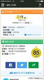 安全運転度の都道府県内ランキングがわかる…Yahoo!カーナビの新機能
