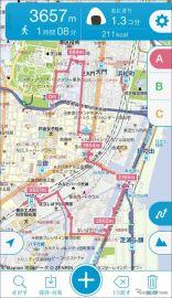 マピオン、iOS版アプリ「キョリ測」に道沿い機能を追加