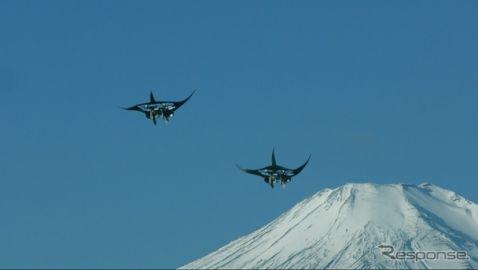 空飛ぶ2匹のマンタ、日本の絶景を紹介