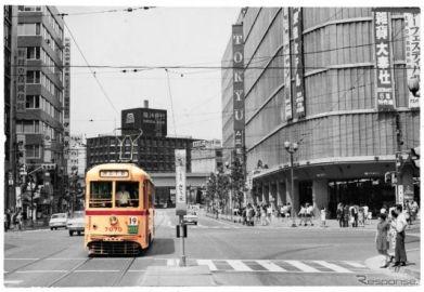 さよなら都電7000形、銀座〜日本橋間で記念ラッピングバス運行 3月24〜26日