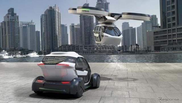 【ジュネーブモーターショー2017】EVにもドローンにも…イタルデザインとエアバスが共同開発