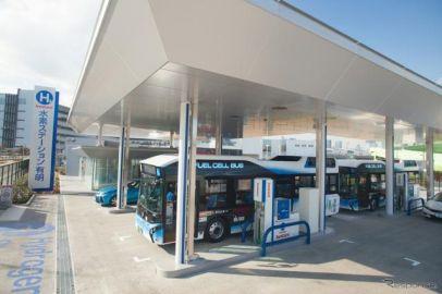 岩谷産業、東京ベイエリアに水素ステーションを開所…FCバスを15分で充填