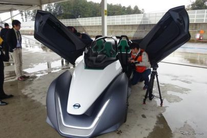 日産、最高速190km/hのEV…『ブレードグライダー』プロトタイプを日本初公開