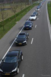 世界最長のEVパレード、ギネス新記録の746台を達成…大半がテスラ モデルS