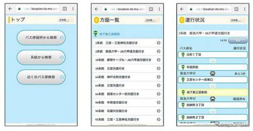 神戸市交通局、バスロケーションシステムに いつもNAVI 動態管理サービス を採用