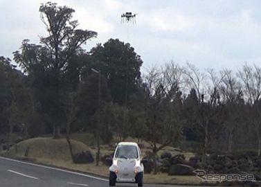 自動運転車と連携、ドローンの長時間飛行を実現へ…ZMPとエアロセンス