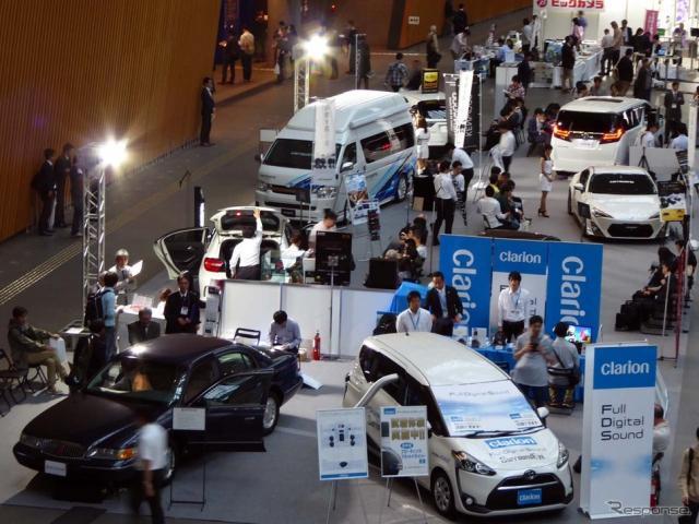 東京国際フォーラムで開催中の『OTOTEN2017』。写真はB1Fロビーフロア