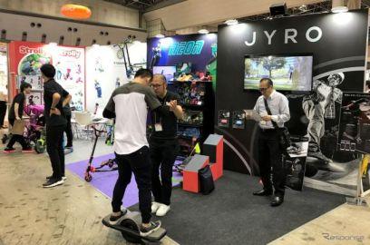 【東京おもちゃショー2017】電動1輪スケボー JYRO Roll に乗ってみた