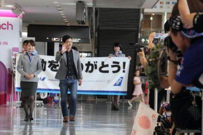 【第101回インディ500】優勝した佐藤琢磨が凱旋帰国、多くのファンに出迎えられる