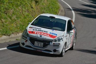 【全日本ラリー 第5戦】プジョー 208 R2、2位表彰台獲得…天候変化にも安定した走行性能を発揮