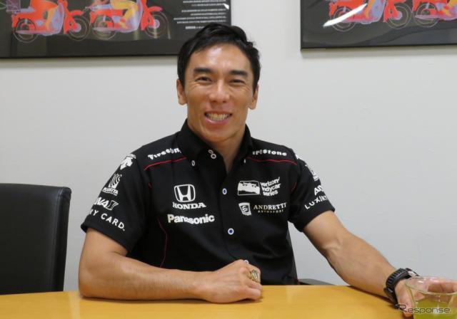 インディ500制覇のチャンピオンリングとともに、佐藤琢磨はシリーズタイトル獲得を目指す。《撮影 遠藤俊幸》