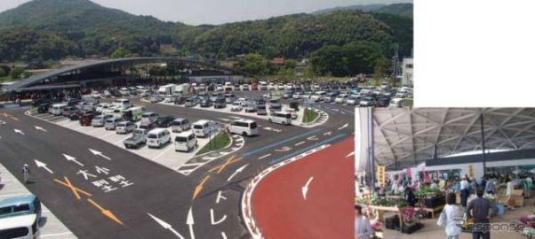 道の駅「ソレーネ周南」へ高速道路からの立ち寄り、7月15日から試行