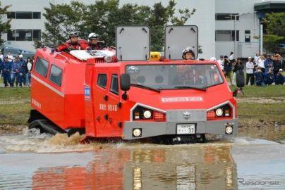 日本唯一の全地形対応車「レッドサラマンダー」、九州豪雨で初の救助活動