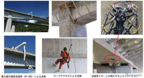 NEXCO中日本、橋梁の点検現場を一般公開…ドローンを使った最新技術など 7月26日