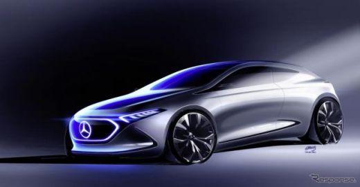 【フランクフルトモーターショー2017】出展予定のメルセデス EQ A、スケッチを公開…EV版 Aクラス?