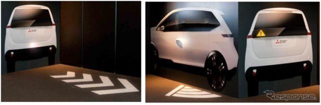 【東京モーターショー2017】三菱電機、安心・安全ライティング技術を紹介予定…後退やドア開けを光で通知