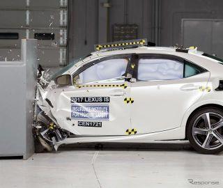 【IIHS衝突安全】レクサス IS 改良新型、最高評価のトップセーフティピック+