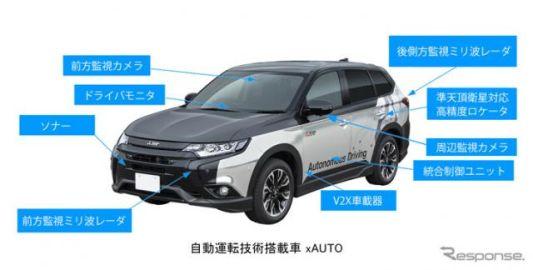 【東京モーターショー2017】三菱電機、高速道路で実証している自動運転車を出展予定