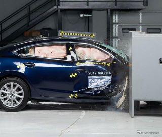 【IIHS衝突安全】マツダ 6、助手席スモールオーバーラップで最高評価を獲得